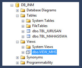 Cara Membuat Table View Pada SQL Server | Tutorial SQL Server