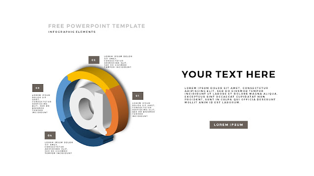 Free PowerPoint Template with 3D Puzzle and Sign Infographic Elements Slide 3