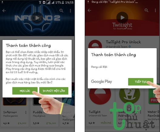 Hướng dẫn mua ứng dụng trên Google Play bằng sim Viettel