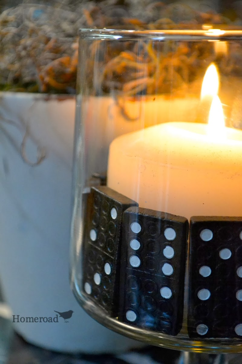 Decorating with Domino Vase Fillers