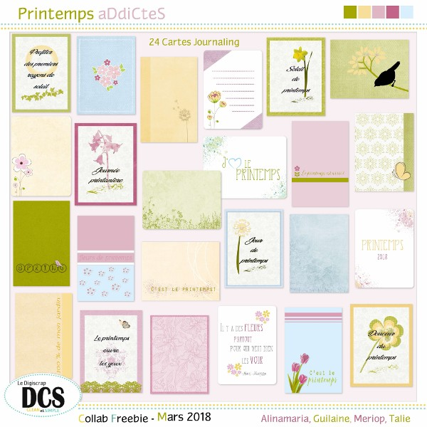 Printemps aDdiCteS - Les Cartes Journaling