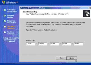 windows xp service pack 3 product key changer