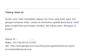 lalu lintas robot pada google search