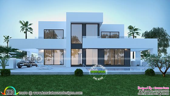 Back elevation 3d rendering