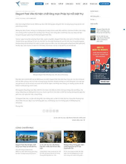 Template blogspot bất động sản dự án căn hộ - Giaodienblog.com