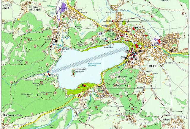 Mapa de Bled