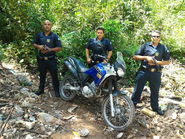 3º Inspetoria da GCM de Santo André localiza moto roubada abandonada no Guaraciaba