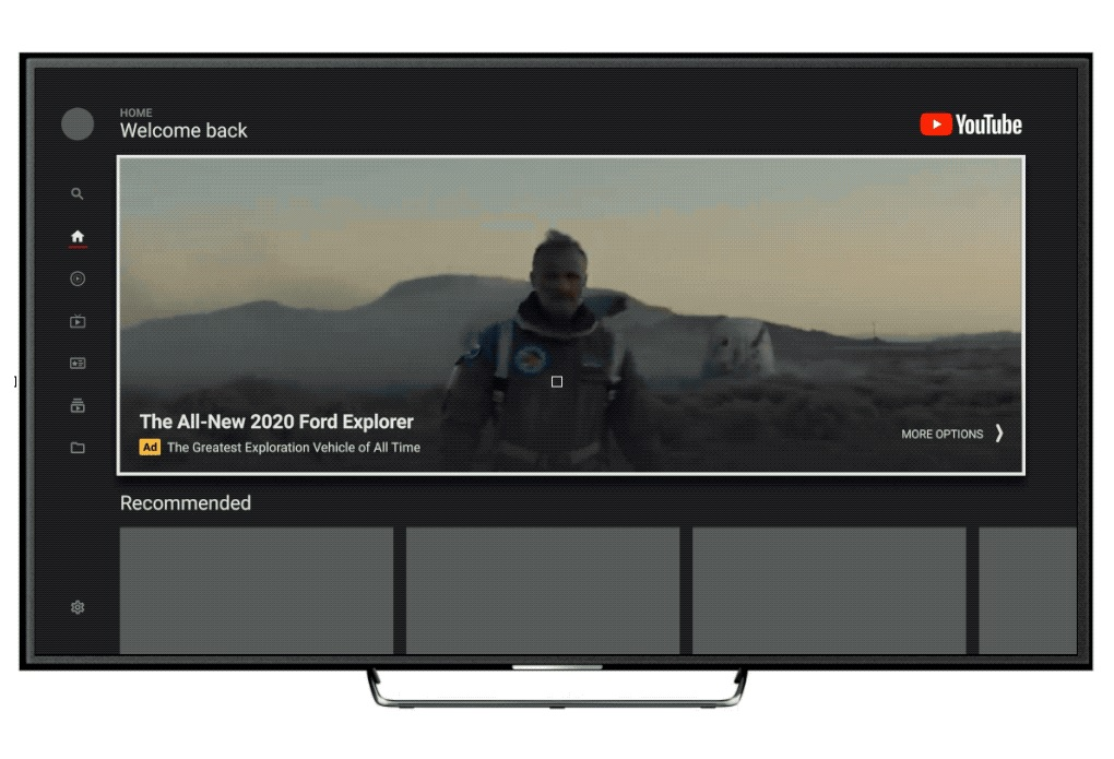 The YouTube Masthead is coming to the TV screen