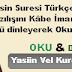 yasin suresi türkçe