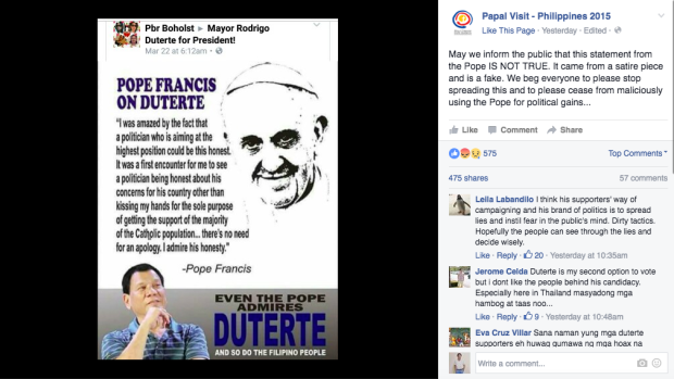 The CBCP Stated That The Pope Is Not Endorsing Rodrigo Duterte! MUST READ!