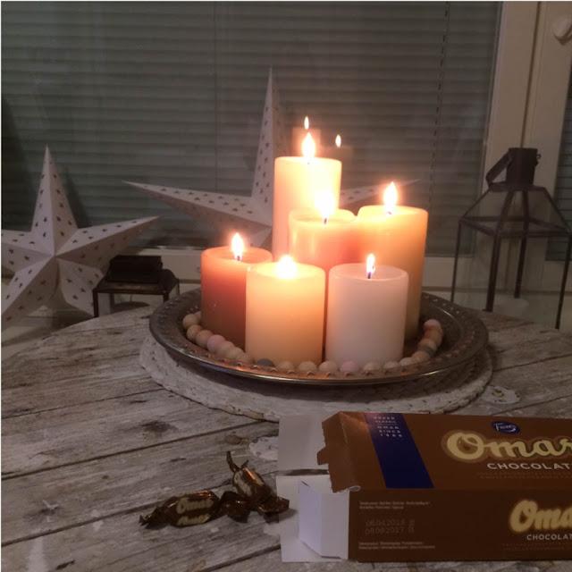 kynttilä omar suklaa