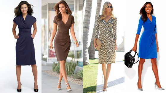 wrap dress look escritorio