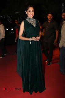 Actress Pragya Jaiswal Stills in Green Long Dress at Gemini TV Puraskaralu 2016 Event  0091.JPG
