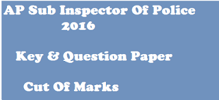 ap si key 2016 cut of marks 2016