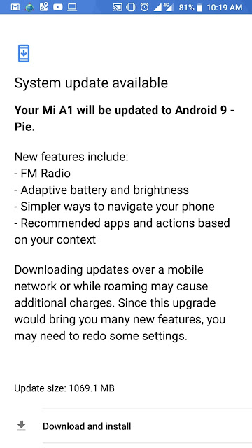Update Android Pie