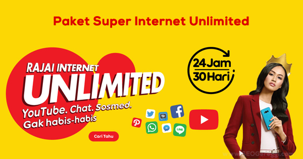Paket Super Internet Unlimited Indosat