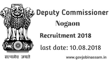 DC Office Nagaon Recruitment 2018