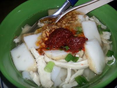 koay teow th'ng, sup ayam, sup manis, minyak bawang putih, sambal sup, Resepi Koay Teow Th'ng
