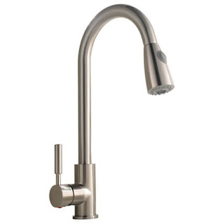 Comllen Stainless Steel Single Handle Kitchen Faucet