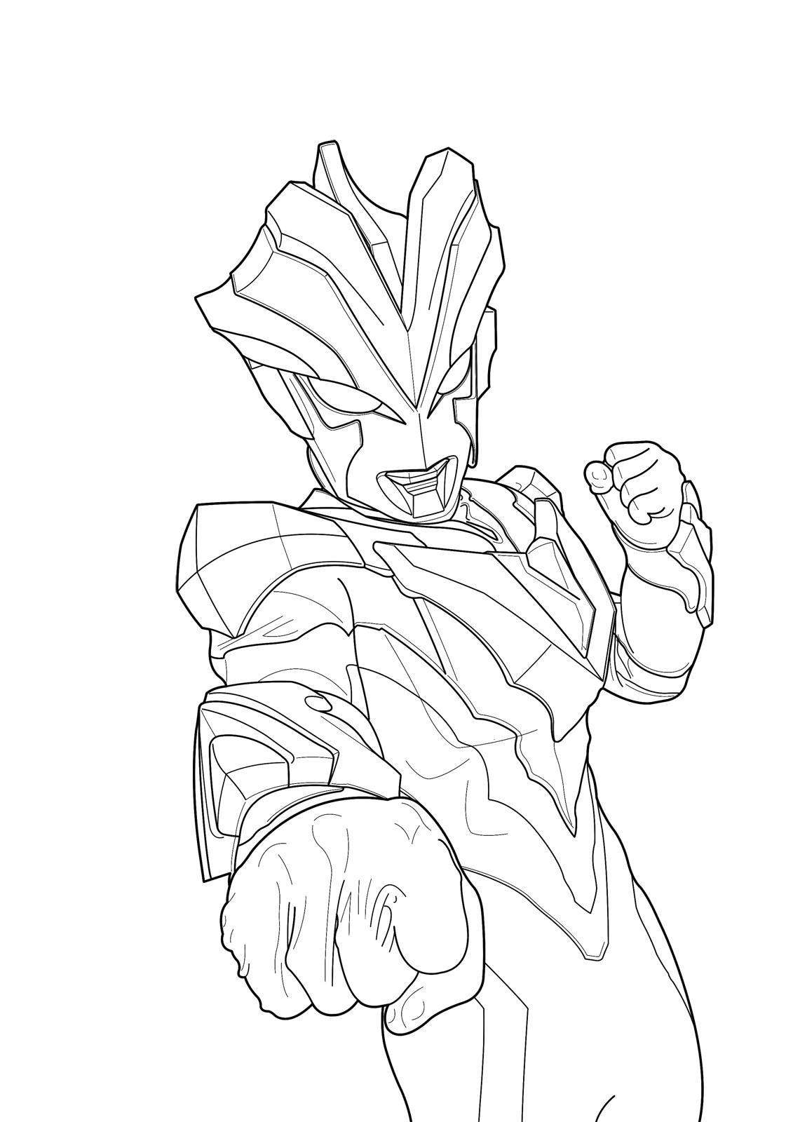 Mewarnai Sketsa Gambar Ultraman Zero Terbaru