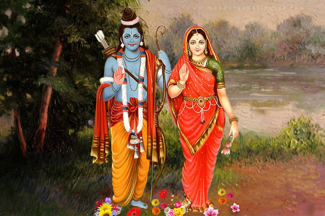 Best God Ram With Sita Full Size HD Wallpaper For Your Mobile & Desktop