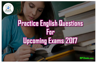 Practice English Questions With Explanation for Upcoming Exams 2017 (Error Spot)