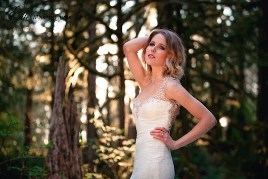 Makeup for a Pacific Northwest Styled Bridal Photo Shoot at Wallace Falls