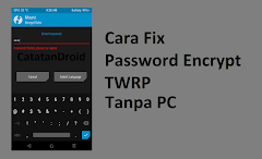 Cara Mengatasi Encrypted Password TWRP Tanpa PC
