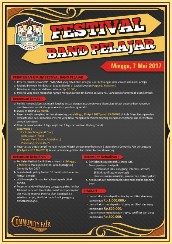 Festival Band Pelajar Community Fair 2017