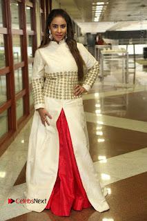 Telugu Actress Sri Reddy Mallidi Stills in White Beautiful Dress at Marriage Needs Bridal Fashion Week 2017 Logo Launch  0033.JPG