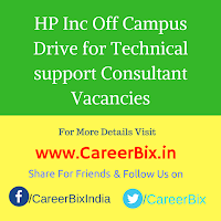HP Inc Off Campus Drive for Technical support Consultant Vacancies