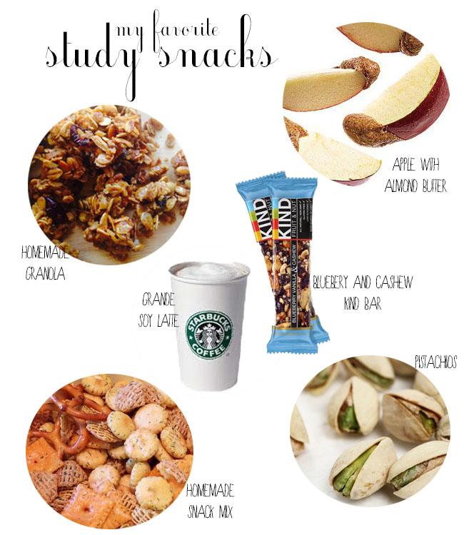 take a bite: Study Snacks
