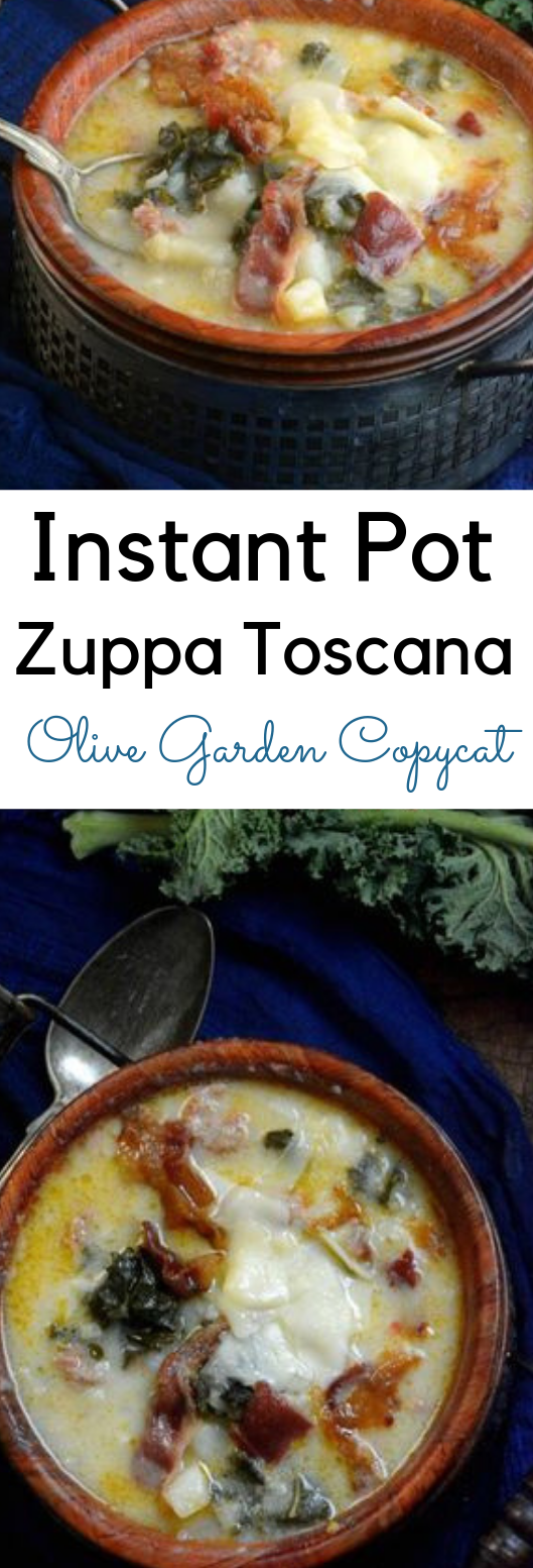 ZUPPA TOSCANA OLIVE GARDEN COPYCAT INSTANT POT SOUP #healthyrecipe #toscana