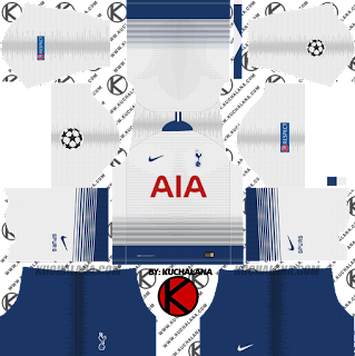 Tottenham Hotspur 2018/19 UCL Kit - Dream League Soccer Kits