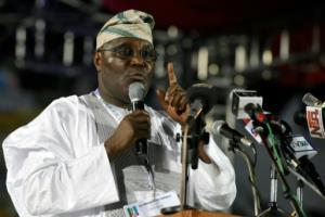 Nigeria's former vice president, Atiku Abubakar, announced Sunday that he had rejoined the country's main opposition party, the latest sign he aims to run for the presidency in 2019.