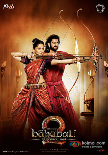 Baahubali 2 The Conclusion 2017 pDVDRip Hindi 450MB