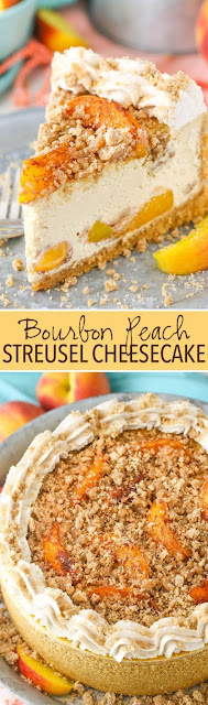 Bourbon Peach Streusel Cheesecake