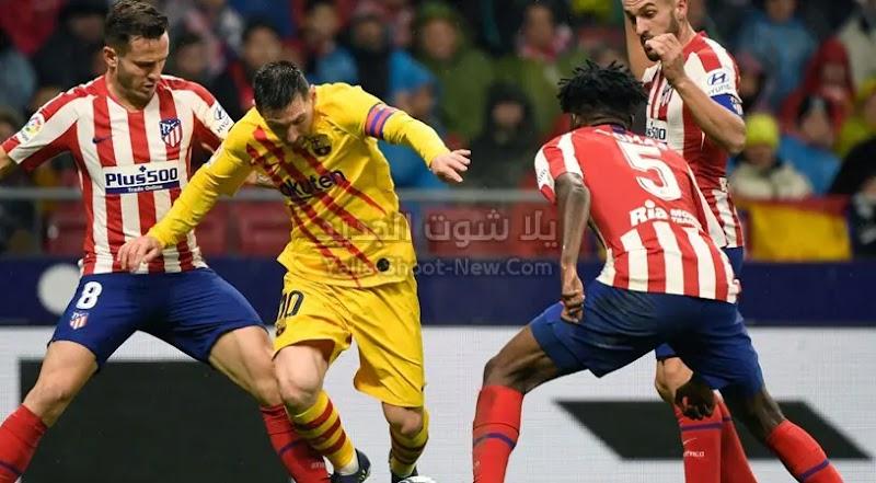 ميسي يقود برشلونة للفوز علي اتليتكو مدريد في معقله من الدوري الاسباني
