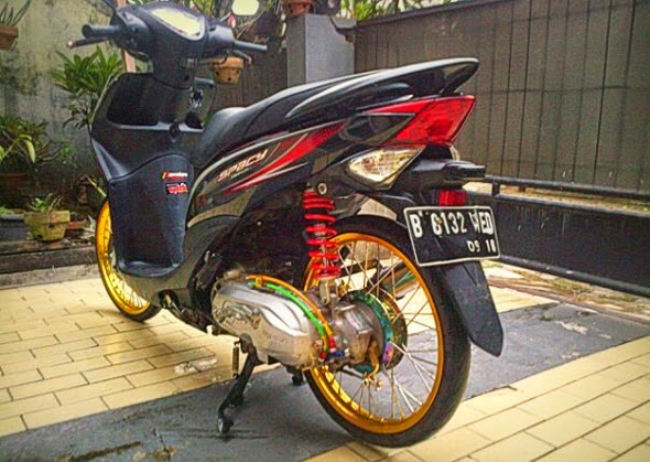 contoh Variasi Motor Matic Honda Spacy