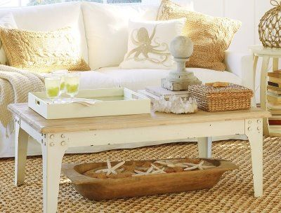Theme design ideas in coastal style decor house furniture - Serene traditional cottage in natural theme ...