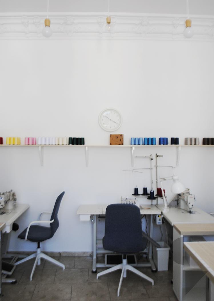 projekt wnętrza atelier krawieckiego