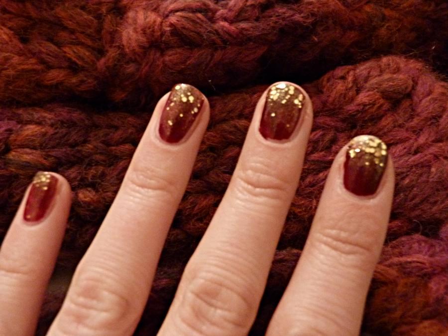 frl m ller glitter nails bordeaux gold. Black Bedroom Furniture Sets. Home Design Ideas