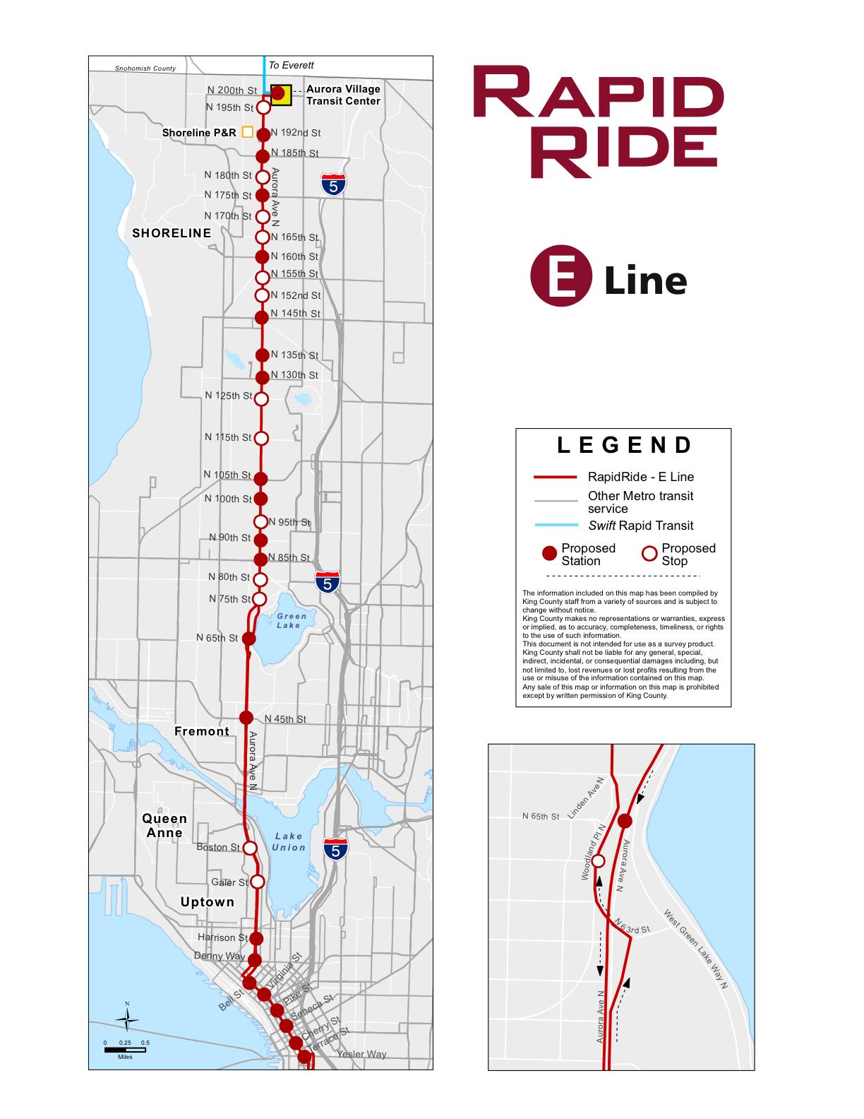 Shoreline Area News Rapidride E Line Will Follow 358 Route