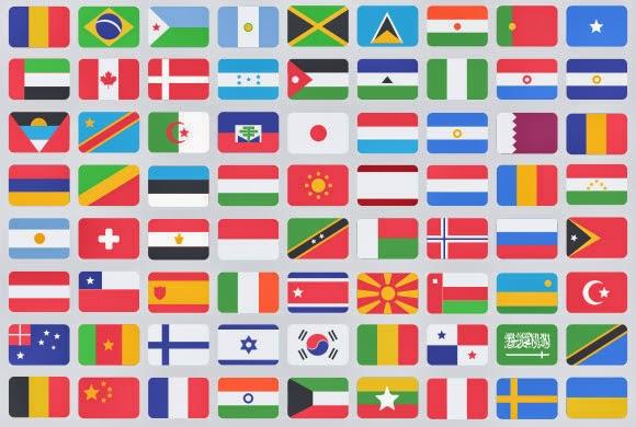 195 flat flag PSD icons
