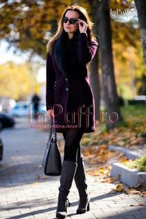 palton dama scurt mov