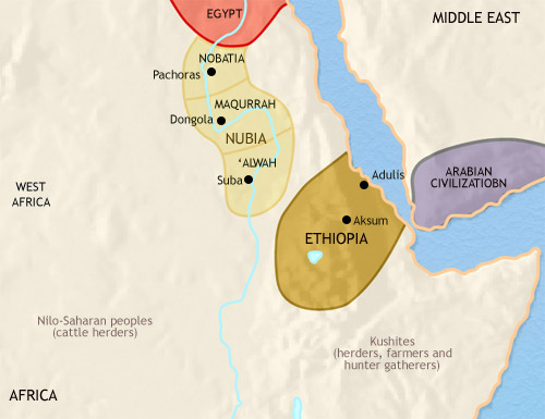 Map of ancient Nubia