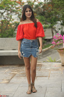 Rhea Chakraborty in Red Crop Top and Denim Shorts Spicy Pics ~  Exclusive 271.JPG