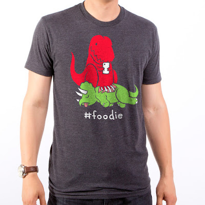 Guys Foodie Dino t-Shirt from Goodie Two Sleeves