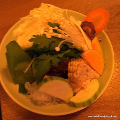 bowl of veggies at Mo Mo Paradise in Taipei, Taiwan