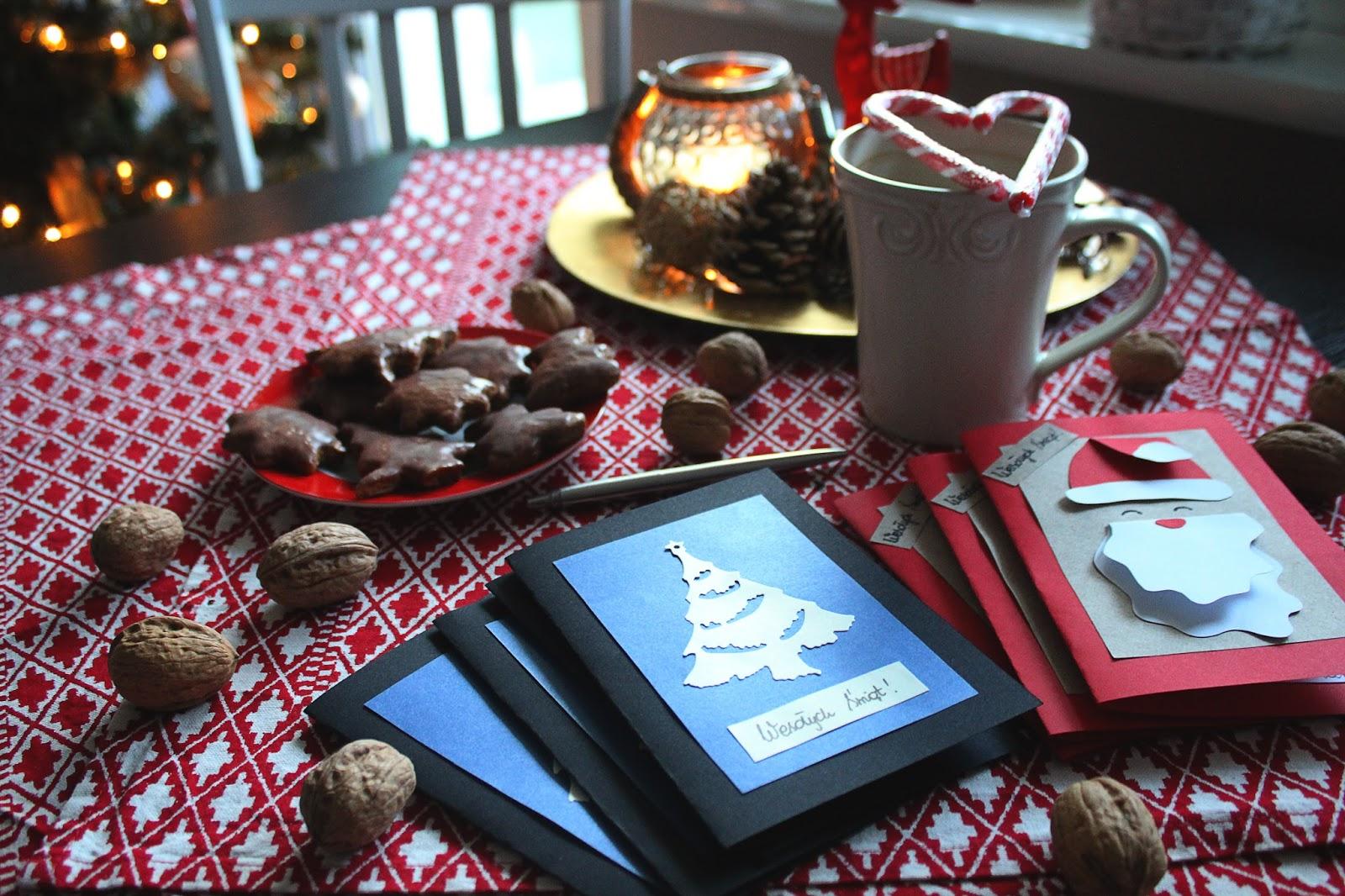 2 proste pomysły na własnoręcznie wykonane kartki świąteczne